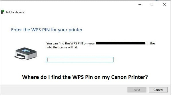 Find WPS Pin on Canon Printer